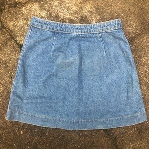 American Apparel Skirts - American Apparel Denim A-Line Button Skirt Size S